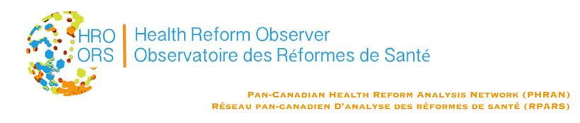 Health Reform Observer - Observatoire des Réformes de Santé