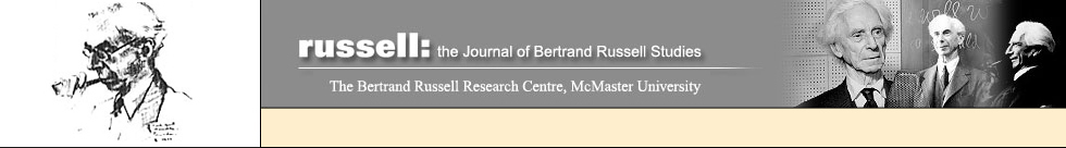 Russell: the Journal of Bertrand Russell Studies