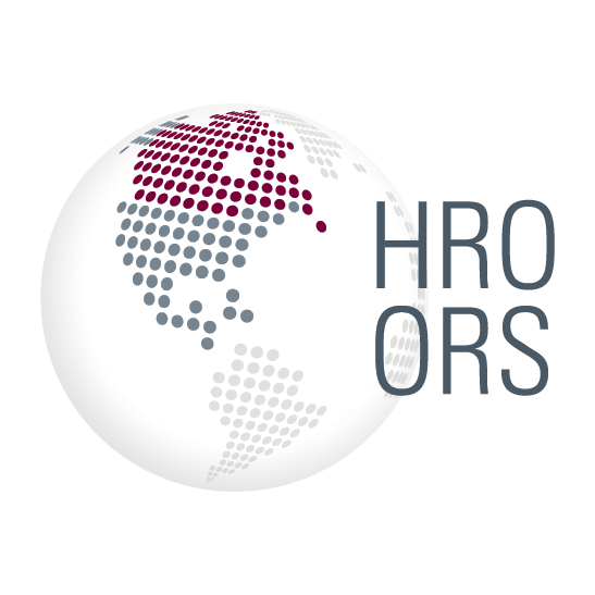 Journal logo showing a globe with Canada highlighted. The acronym for the journal (HRO-ORS) appears to the right of the globe.